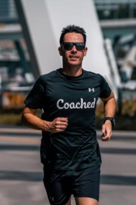 Coach Ben running