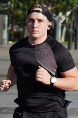 Coach Jim, running