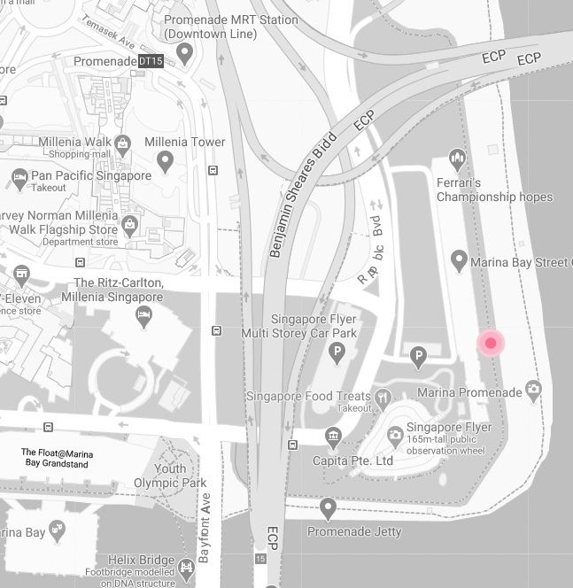 Map of Coached group run training meeting point