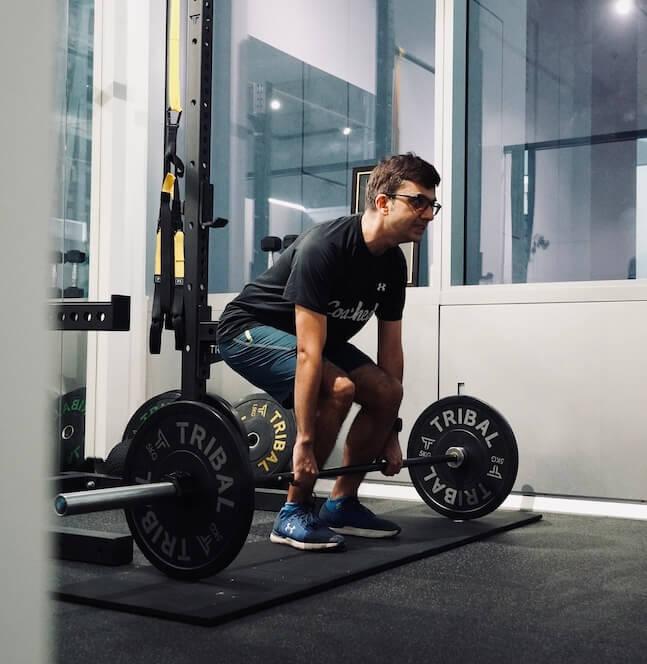 Male running strength training